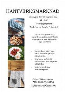 Ekebyborna Hantverksmarknad 2021